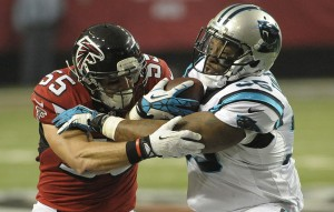 FB Mike Tolbert played for Douglas County HS in Douglasville, GA.