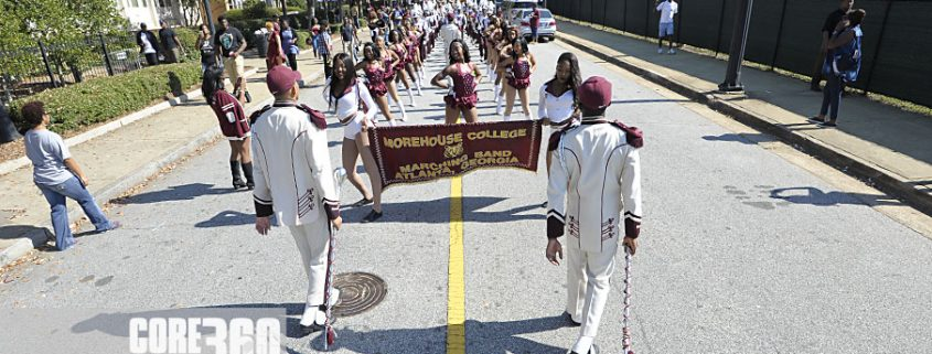 Morehouse House of Funk enters the stadium.