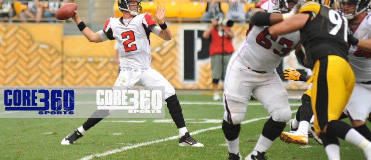 File photo of Matt Ryan passing against the Steelers in 2010.
