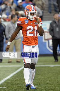 Florida Gators running back Kelvin Taylor at the 2014 Birmingham Bowl.