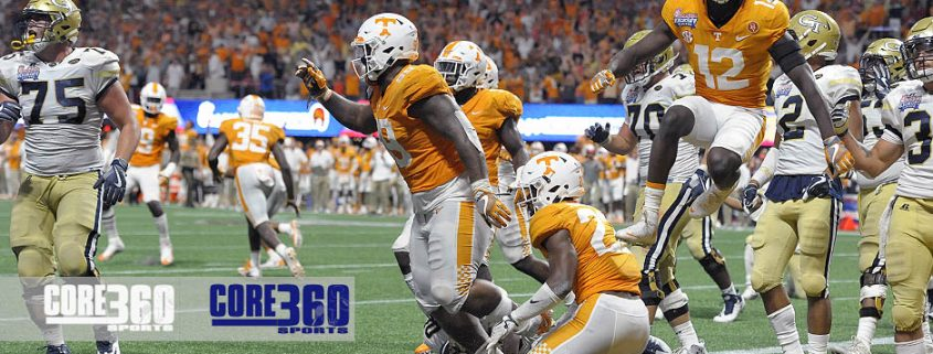 Tennessee defeated Georgia Tech 42-41 in double overtime at Atlanta Mercedes Benz Stadium Monday night.