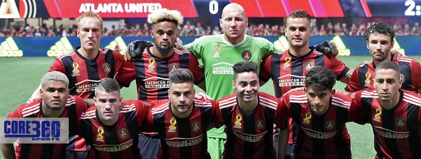 Atlanta United defeated FC Dallas 3-0 in the first soccer game at Atlanta Mercedes Benz Stadium.