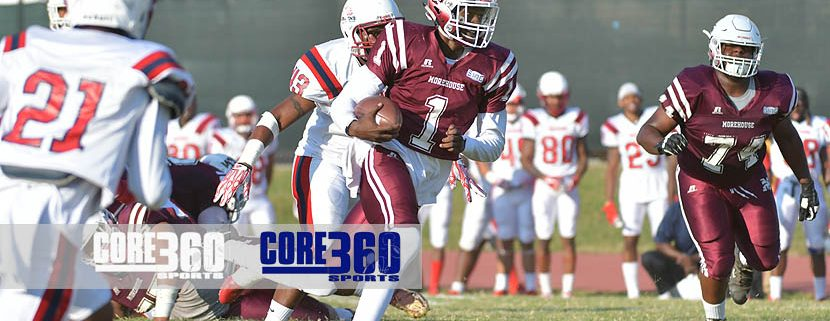 Kivon Taylor rushes for a touchdown to give the Maroon Tigers a 7-0 lead over Lane.