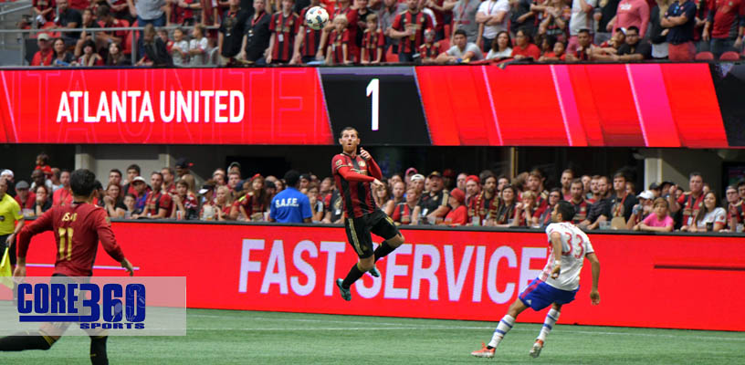Atlanta United battled number one seeded Toronto FC to a 2-2 tie at Atlanta Mercedes-Benz Stadium Sunday afternoon.