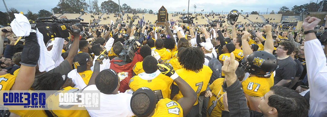 Kennesaw State defeats Monmouth and wins its first Big South Conference championship.