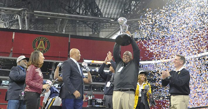 NC A&T Aggies defeat the Grambling State Tigers 21-14 to win the Celebration Bowl and the Black College Football National Championship.